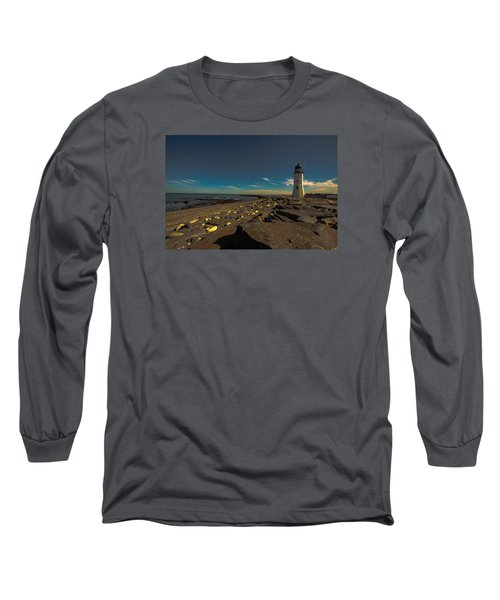 Late Light At The Light Long Sleeve T-Shirt by Brian MacLean