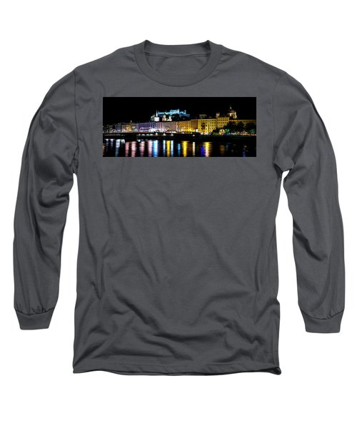 Long Sleeve T-Shirt featuring the photograph Late Night Stroll In Salzburg by David Morefield