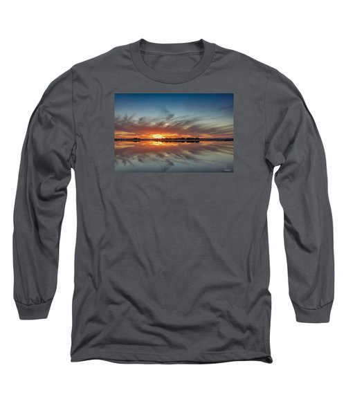 Long Sleeve T-Shirt featuring the digital art Late November Reflections by Phil Mancuso