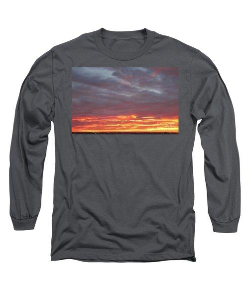 Late Prairie Sunrise Long Sleeve T-Shirt