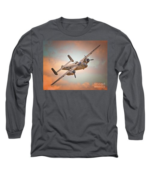 Late Return,north American B-25 Mitchell  Long Sleeve T-Shirt