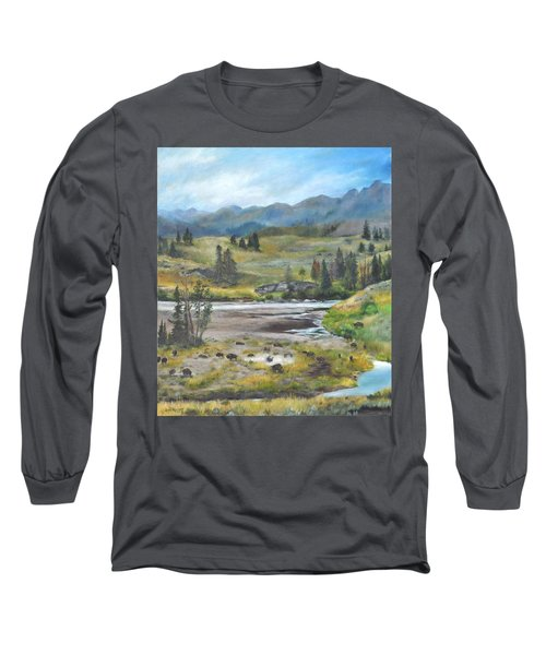 Late Summer In Yellowstone Long Sleeve T-Shirt