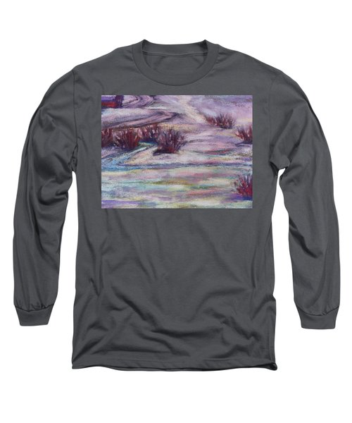 Late Winter Light Long Sleeve T-Shirt by Becky Chappell