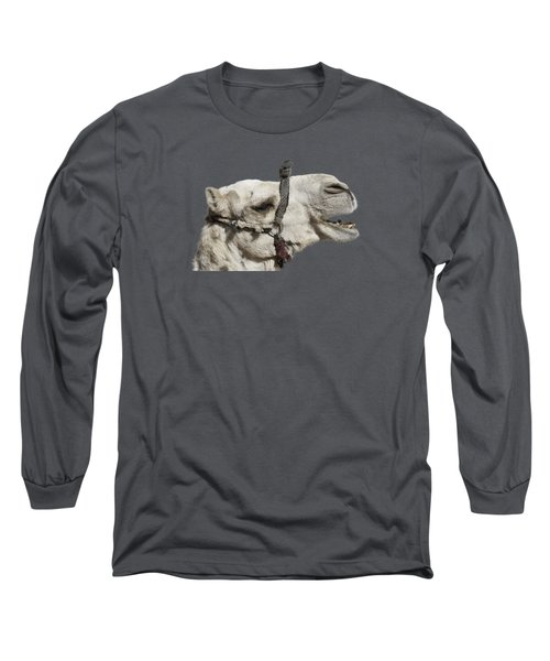 Laughing Camel Long Sleeve T-Shirt by Roy Pedersen