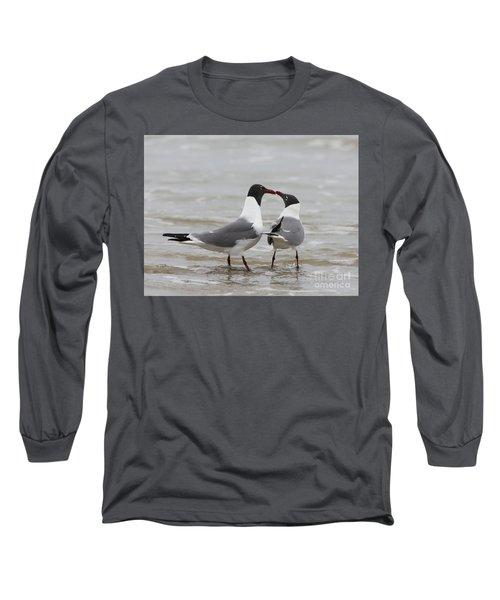 Laughing Gulls In Love Long Sleeve T-Shirt