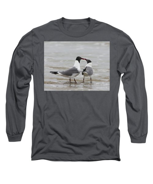 Laughing Gulls In Love Long Sleeve T-Shirt