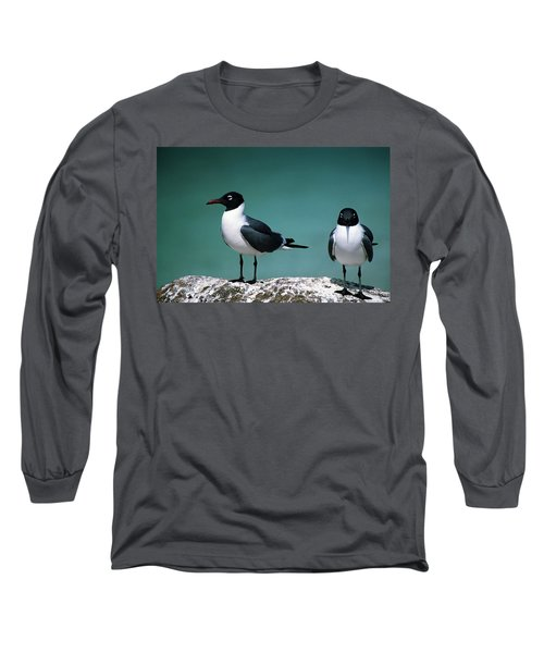 Long Sleeve T-Shirt featuring the photograph Laughing Gulls by Sally Weigand