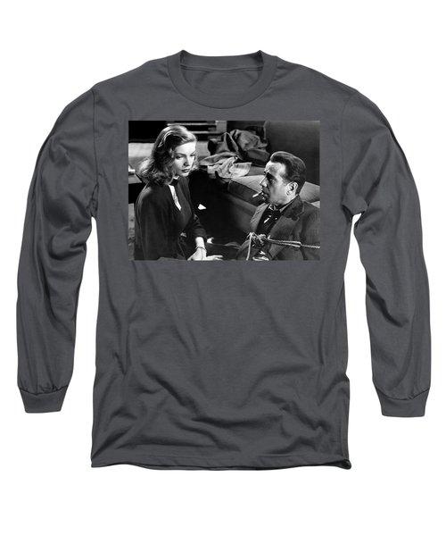 Lauren Bacall Humphrey Bogart Film Noir Classic The Big Sleep 1 1945-2015 Long Sleeve T-Shirt
