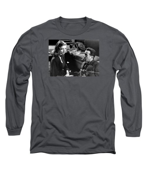 Lauren Bacall Humphrey Bogart Film Noir Classic The Big Sleep 1 1945-2015 Long Sleeve T-Shirt