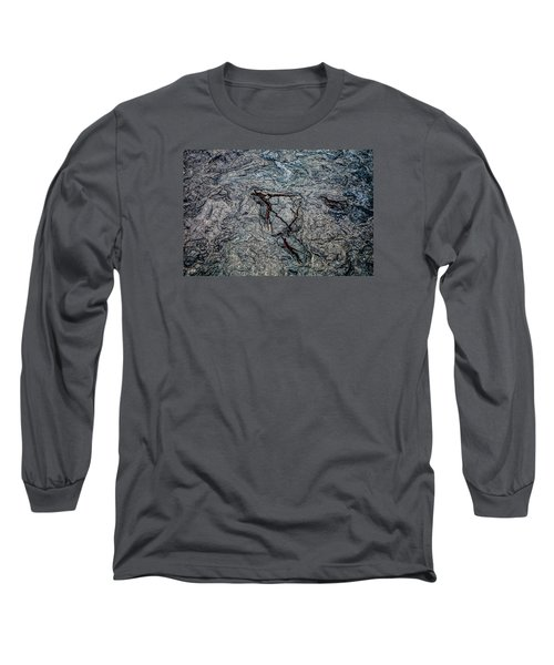 Long Sleeve T-Shirt featuring the photograph Lava by M G Whittingham