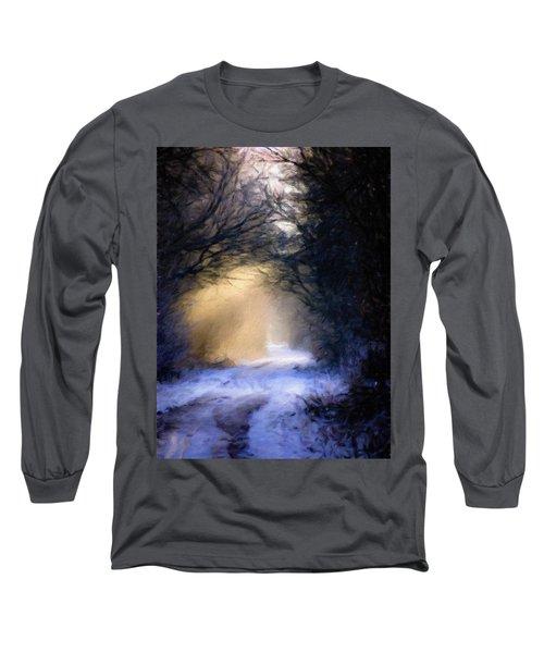 Lavander Snow  Long Sleeve T-Shirt by Michele Carter