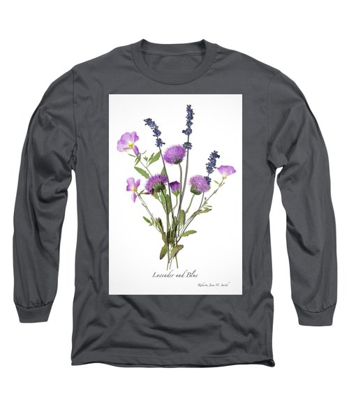 Lavender And Blue Long Sleeve T-Shirt