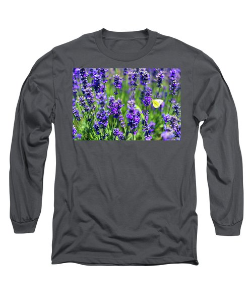 Long Sleeve T-Shirt featuring the photograph Lavender And The Heart by Ryan Manuel