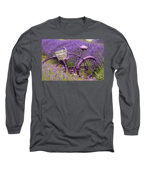 Lavender Bike Long Sleeve T-Shirt