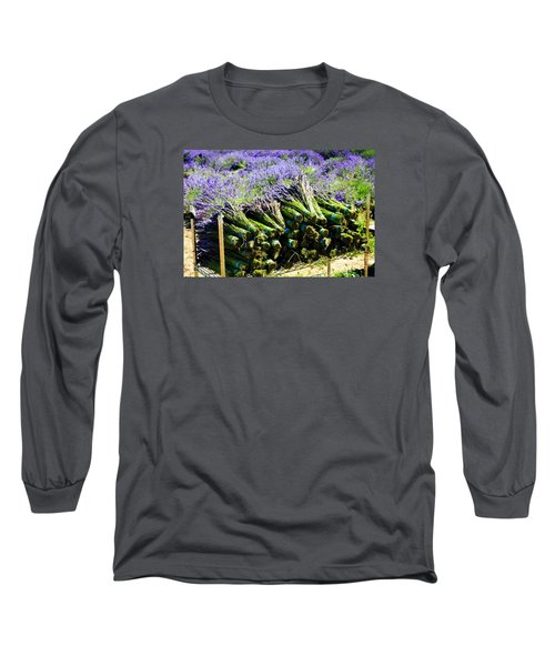 Long Sleeve T-Shirt featuring the photograph Lavender Bounty by Tanya  Searcy