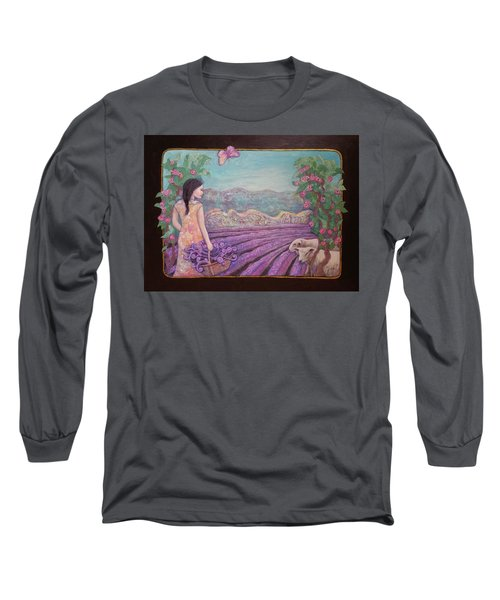 Lavender Harvest With Friends Long Sleeve T-Shirt