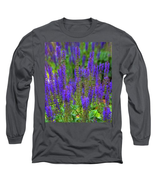 Long Sleeve T-Shirt featuring the digital art Lavender Patch by Chris Flees