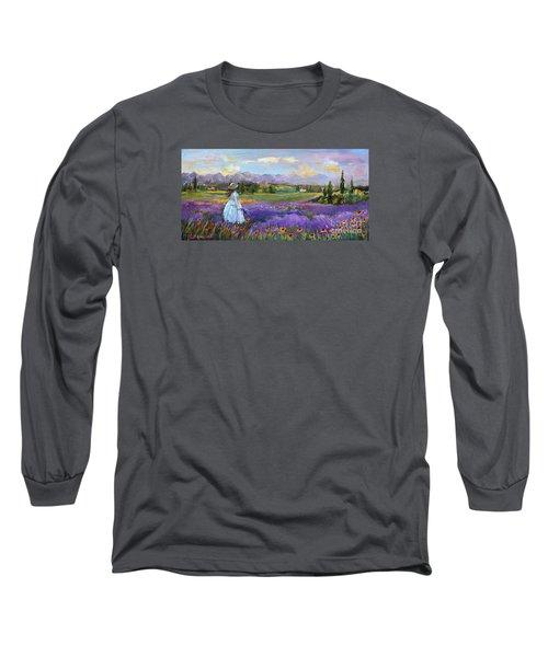 Lavender Splendor  Long Sleeve T-Shirt by Jennifer Beaudet
