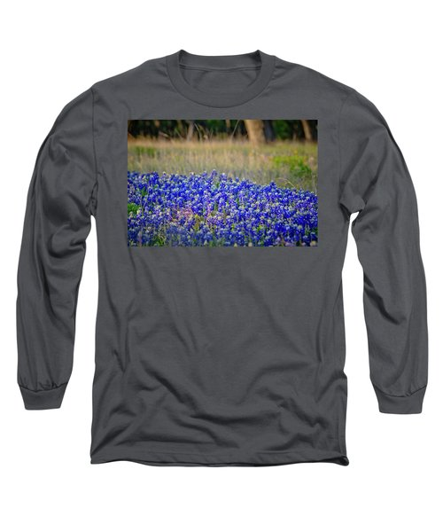 Long Sleeve T-Shirt featuring the photograph Layers Of Blue by Linda Unger