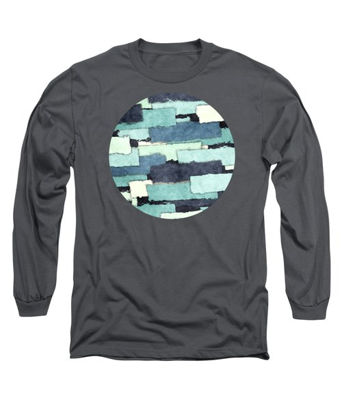 Layers Of Colors Pattern Long Sleeve T-Shirt