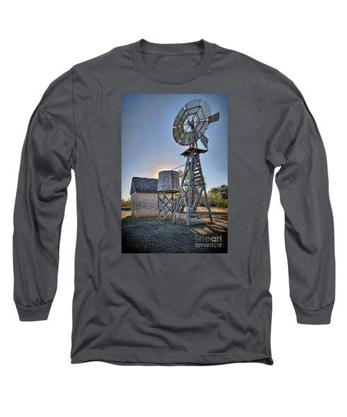 Lbj Homestead Windmill Long Sleeve T-Shirt