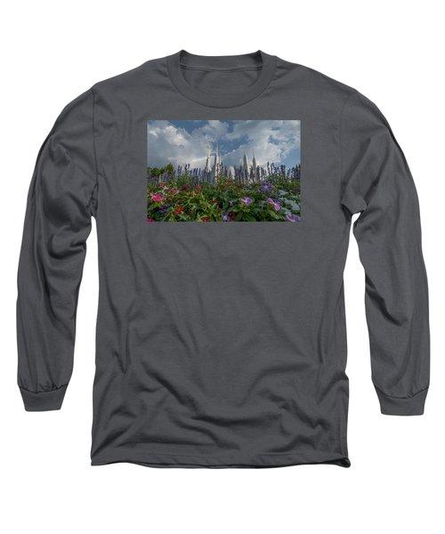 Lds Garden Flowers Long Sleeve T-Shirt