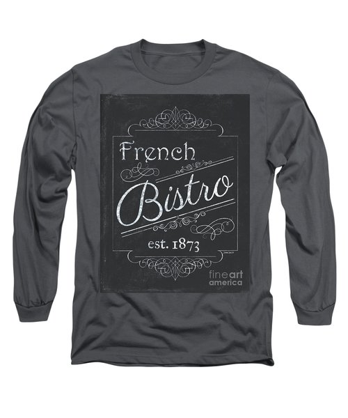 Long Sleeve T-Shirt featuring the painting Le Petite Bistro 4 by Debbie DeWitt