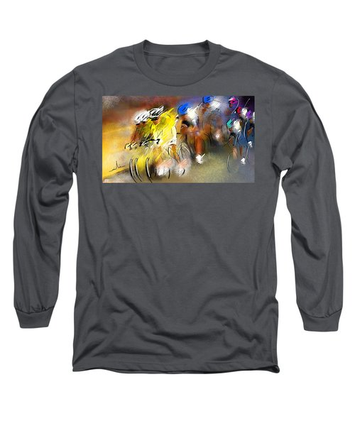 Le Tour De France 05 Long Sleeve T-Shirt by Miki De Goodaboom