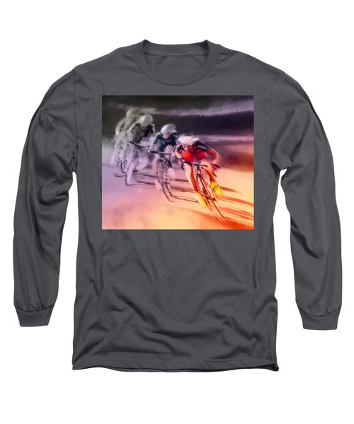 Le Tour De France 13 Long Sleeve T-Shirt by Miki De Goodaboom