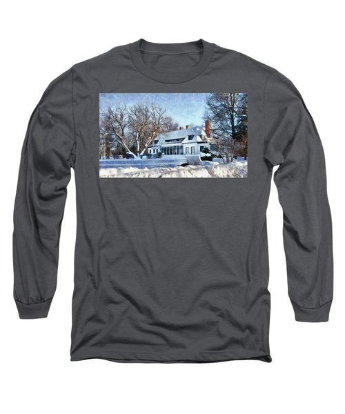 Leacock Museum In Winter Long Sleeve T-Shirt