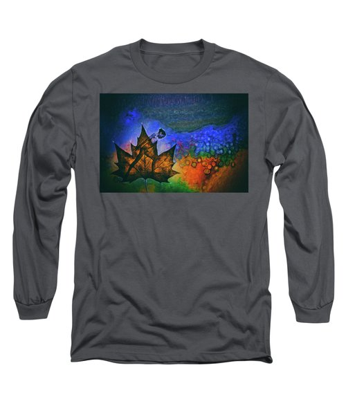 Long Sleeve T-Shirt featuring the photograph Leaf Dancer by James Bethanis