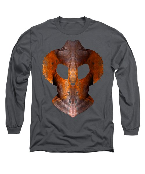 Leaf Mask 2 T Shirt Long Sleeve T-Shirt by WB Johnston