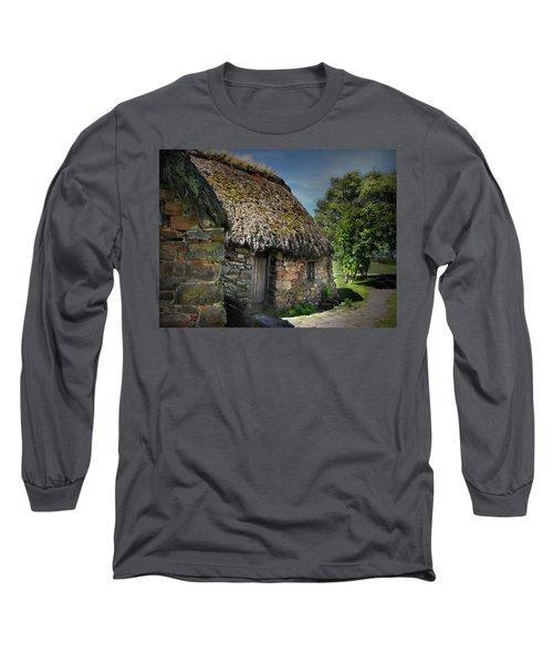 Leanach Farmhouse Culloden Moor  Long Sleeve T-Shirt