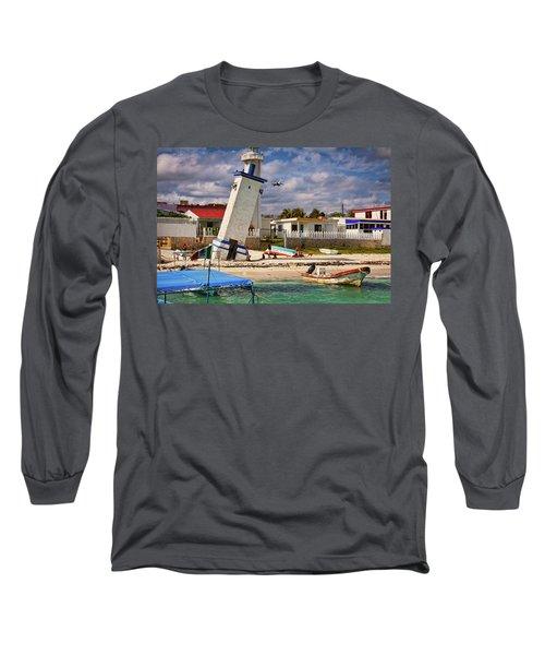 Leaning Lighthouse Long Sleeve T-Shirt