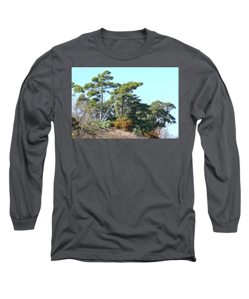 Leaning Trees On Hillside Long Sleeve T-Shirt