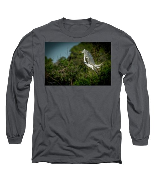 Long Sleeve T-Shirt featuring the photograph Leap Of Faith by Marvin Spates