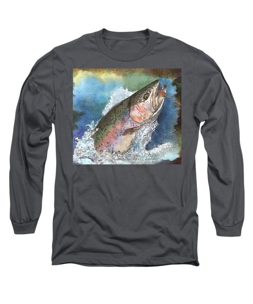 Leaping Rainbow Trout Long Sleeve T-Shirt