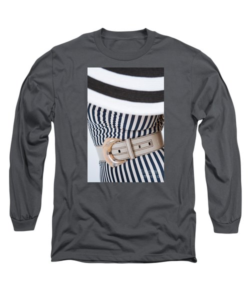 Long Sleeve T-Shirt featuring the photograph Leather Belt With A Buckle  by Andrey  Godyaykin