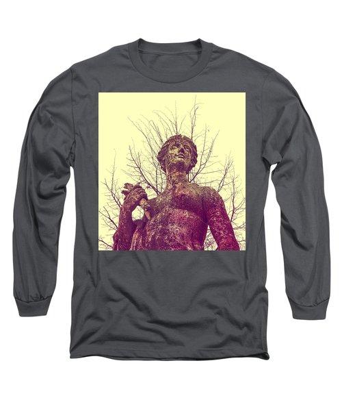 'l'eau Ou La Mer' En Rose Long Sleeve T-Shirt