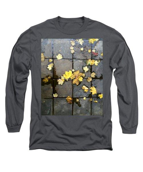 Leaves On Slate Long Sleeve T-Shirt
