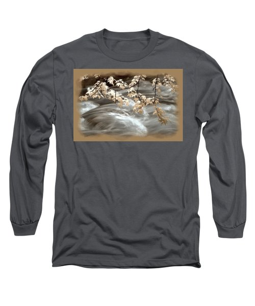 Leaves Over Gossamer Waters Long Sleeve T-Shirt