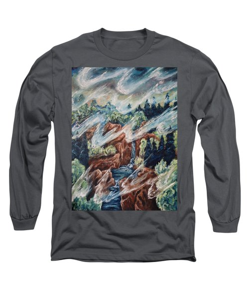 Long Sleeve T-Shirt featuring the painting Leaving Eden by Cheryl Pettigrew