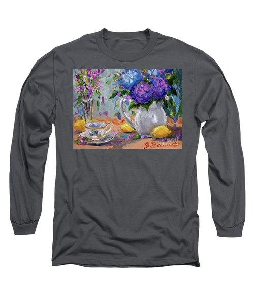 Lemons And Purple  Long Sleeve T-Shirt