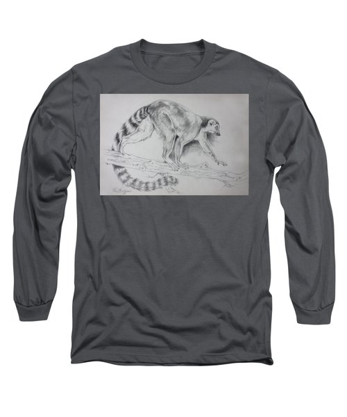 Lemur Sketch Long Sleeve T-Shirt
