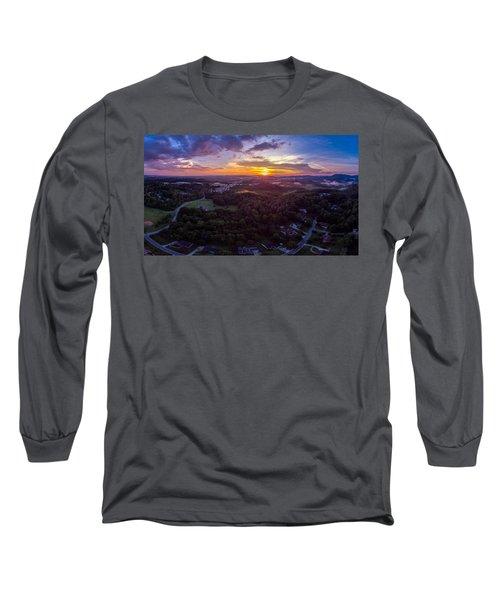 Lenoir North Carolina  Sunset Long Sleeve T-Shirt