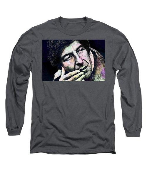 Leonard Cohen - Drawing Tribute Long Sleeve T-Shirt