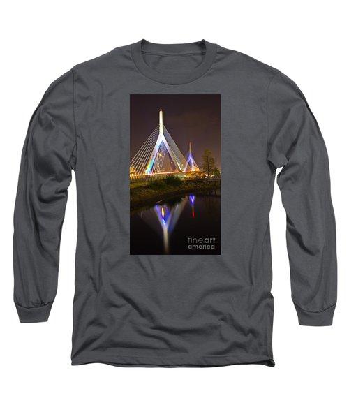 Leonard P. Zakim Bunker Hill Bridge Reflection Long Sleeve T-Shirt
