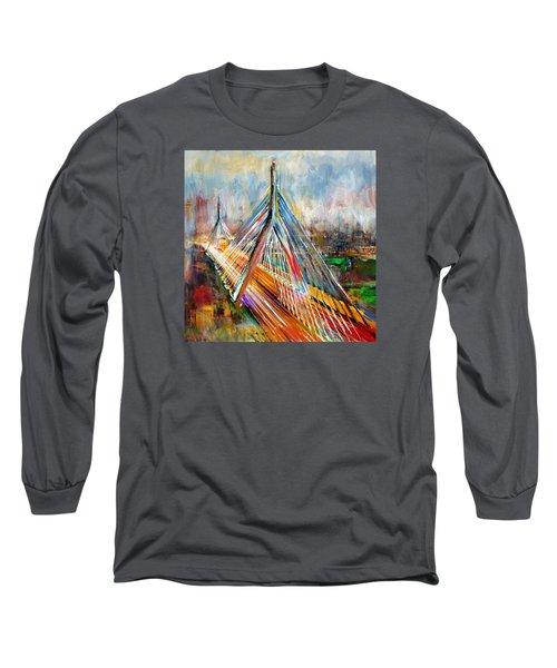 Leonard P. Zakim Bunker Hill Memorial Bridge 219 1 Long Sleeve T-Shirt