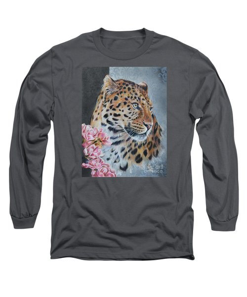 Leopard And Roses Long Sleeve T-Shirt