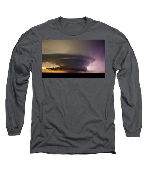 Leoti, Ks Supercell Long Sleeve T-Shirt by Ed Sweeney